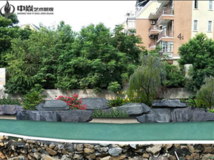 污水河道塑石假山改造