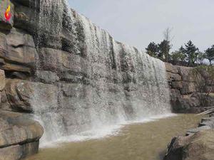 瀑布假山水景假山