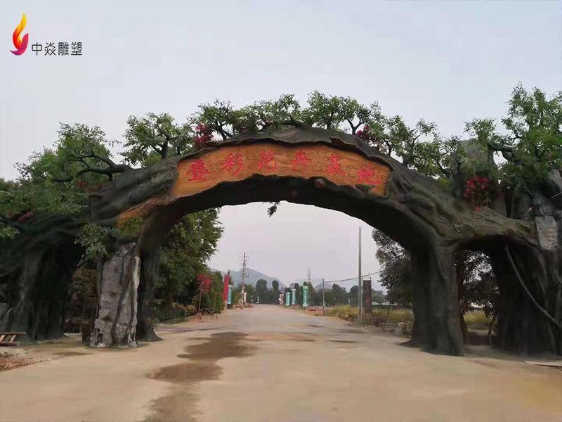 桂林假山大门项目案例